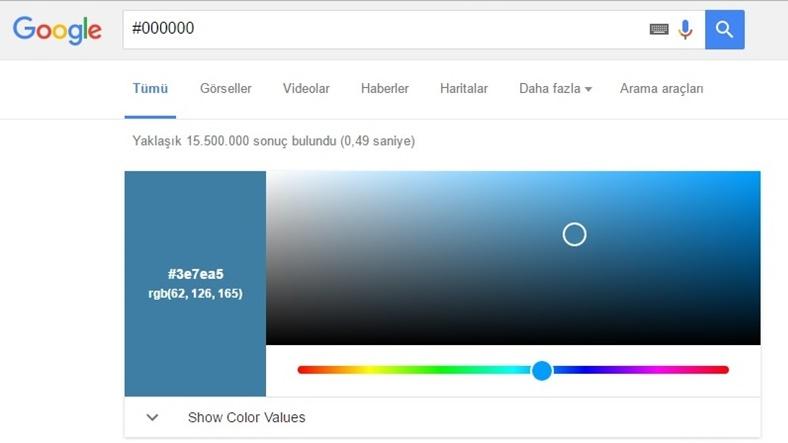 Google'da Artık Renkleri de Aratabilirsiniz